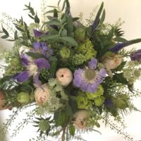Blue and Lilac wedding bouquet
