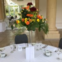 Bold tall table arrangement