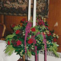 Candle Pedestal Arrangement