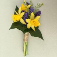 Daffodil & Muscari natural boutonniere