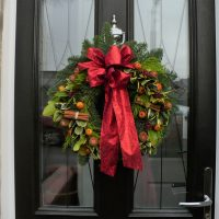 Door Garland Red Bow