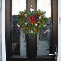 Front door heart garland