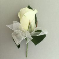 White Ladies Rose buttonhole